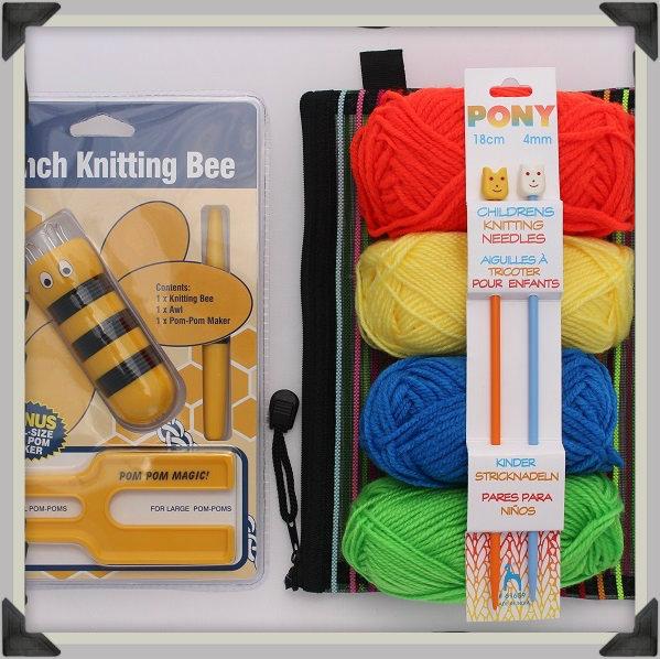 Knitting Gift Set : Kids learn to knit gift set uberyarn