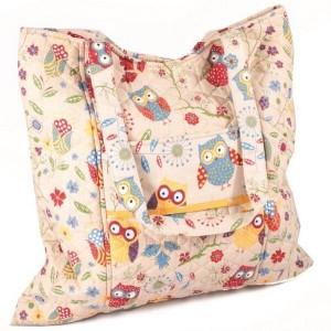 rustic-ranch-owl-knitting-sewing-black-craft-tote-storage-closeup