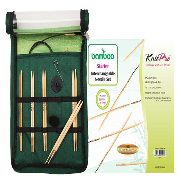 KNITPRO Bamboo Interchangeable Circular Needles Starter Set