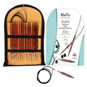 KNITPRO Cubics Interchangeable Circular Needles Deluxe Set