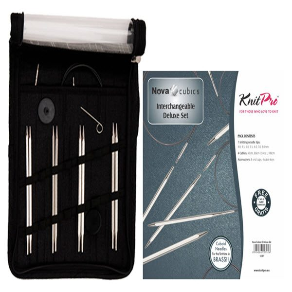 KNITPRO Nova Cubics Interchangeable Circular Needles Deluxe Set