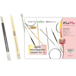 KNITPRO Comby Interchangeable Circular Needles Sampler Set-II
