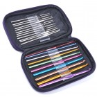 Crochet Hook Set in Purple Case
