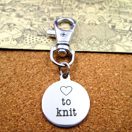 Love to Knit Charm Key Chain
