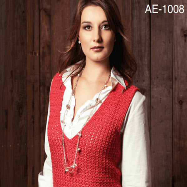 a48799e71 ... V-NECK SLEEVELESS PULLOVER. 🔍. free knitting patterns